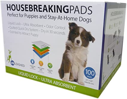Unleashed Pee pads 100 Value Pack - Naturally Urban Pet Food Shipping