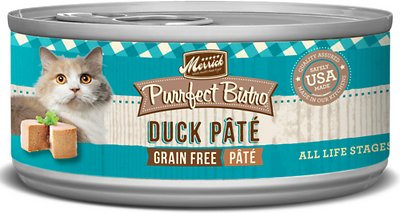Merrick Purrfect Bistro Grain-Free Duck Pâté 24 x 5.5 oz. cans. - Naturally Urban Pet Food Shipping