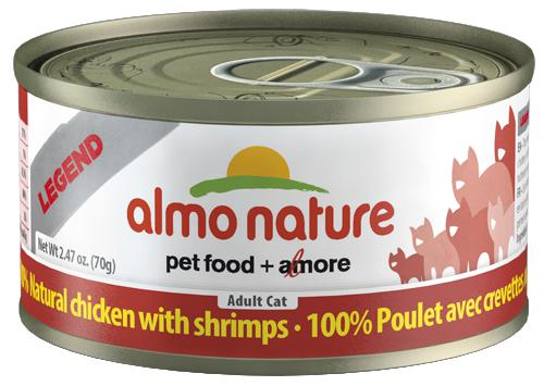 Almo Nature 100% Natural Chicken with Shrimps 24 x 70g - Naturally Urban Pet Food Shipping