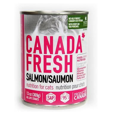 Canada Fresh Nutrition Salmon Formula for cats 12 x 13oz cans - Naturally Urban Pet Food Shipping