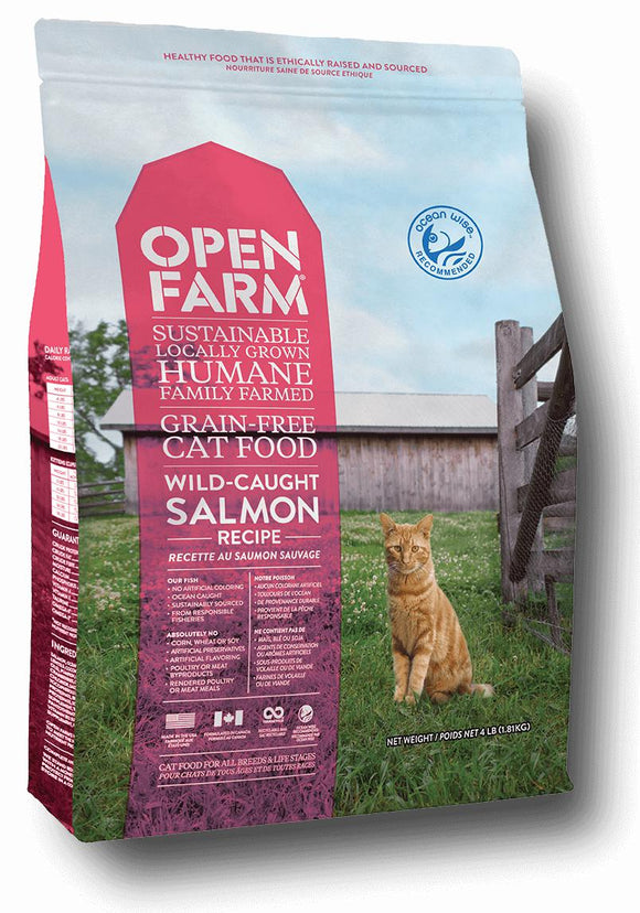 Open Farm Wild Caught Salmon Recipe for Cats 8lbs. - Naturally Urban Pet Food Shipping