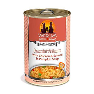 Weruva Jammin' Salmon with Chicken & Salmon in Pumpkin Soup   12 x 14 oz cans - Naturally Urban Pet Food Shipping