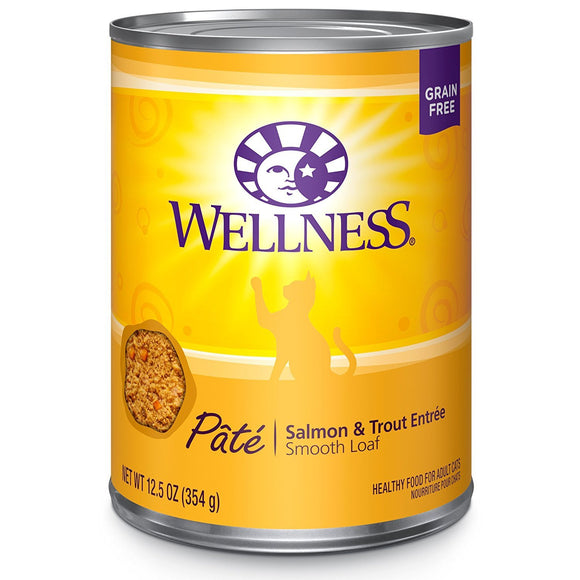 Wellness Complete  Salmon & Trout Recipe 12 x 12.5 oz. cans - Naturally Urban Pet Food Shipping