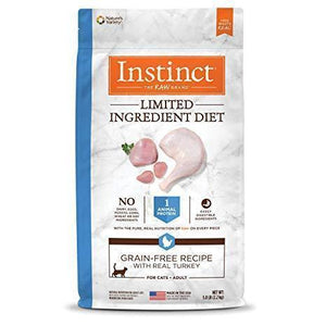 Nature's Variety Instinct Grain-Free Kibble Limited Ingredients for Cats Diet Turkey Meal Formula 12.1 lbs. bag - Pet Food Online by Naturally Urban