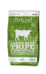 Petkind Tripe Dry Green Beef Tripe Formula 25 lb bag - Pet Food Online by Naturally Urban