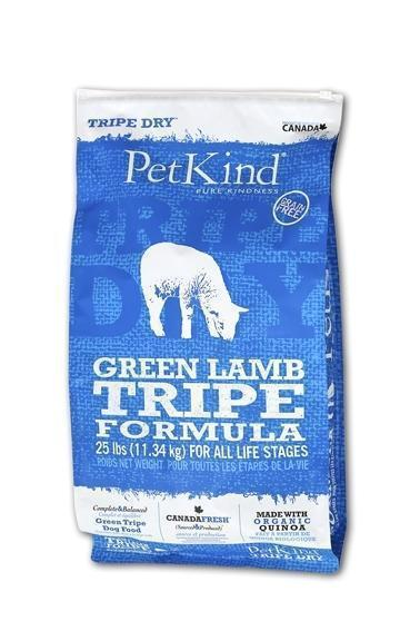Petkind Tripe Dry Green Tripe and Lamb Formula 25 lb bag - Pet Food Online by Naturally Urban