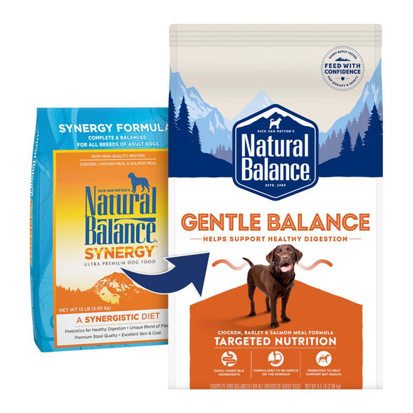 Natural Balance Gentle Balance (Formerly SYNERGY) Dog Dry Formula  26 lbs. bag - Pet Food Online by Naturally Urban