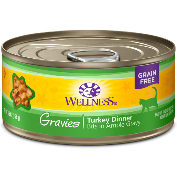 Wellness Complete Health Turkey Gravies pack 24 x 5.5 oz cans-Wellness-Pet Food Online by Naturally Urban