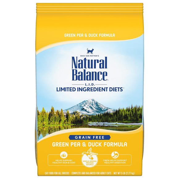 Natural Balance Green Pea & Duck Dry Formula 10 lbs. bag - Pet Food Online by Naturally Urban