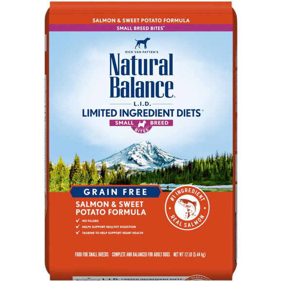 Natural Balance Sweet Potato & Salmon Small Breed Bites' Dry Formula  12 lbs. bag - Pet Food Online by Naturally Urban