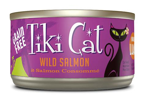 Tiki Cat Hanalei Luau Wild Salmon 8 x 6 oz cans - Naturally Urban Pet Food Shipping