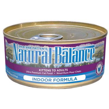 Natural Balance Ultra Premium Indoor Canned Cat Formula 24 x 5.5 oz. cans - Pet Food Online by Naturally Urban