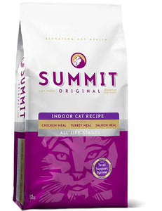 Summit Three Meat Indoor Cat 15 lbs. - Pet Food Online by Naturally Urban