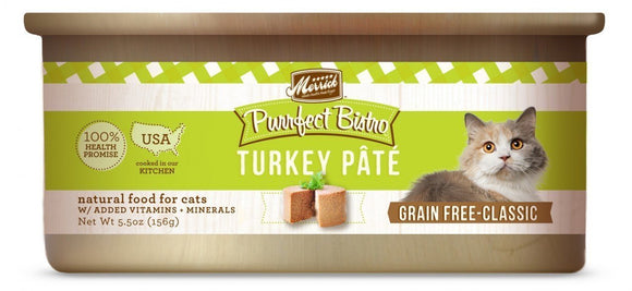 Merrick Purrfect Bistro Grain-Free Turkey Pâté 24 x 5.5 oz. cans.. - Naturally Urban Pet Food Shipping