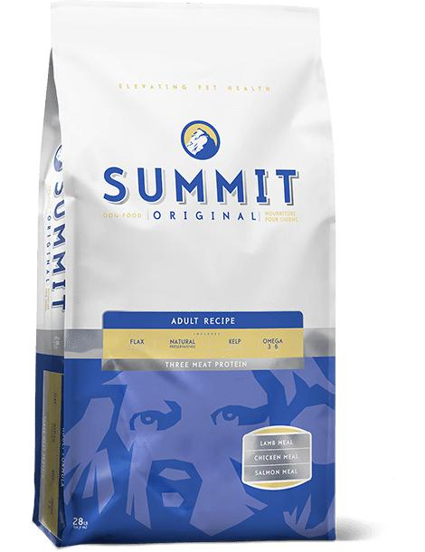 Summit - Three Meat Adult Dog Food Recipe 28 lbs. - Pet Food Online by Naturally Urban