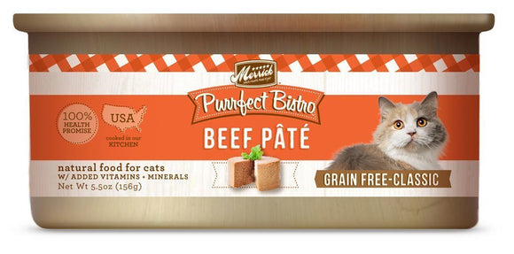Merrick Purrfect Bistro Grain-Free Beef Pâté 24 x 5.5 oz. cans.. - Naturally Urban Pet Food Shipping