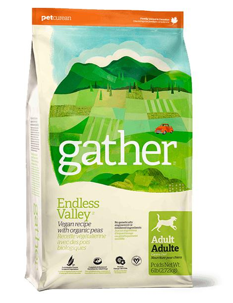 Gather Endless Valley Vegan  recipe for Adult Dogs  16 lbs. - Naturally Urban Pet Food Shipping