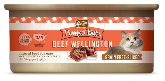 Merrick Purrfect Bistro Grain-Free Beef Wellington 24 x 5.5 oz. cans - Naturally Urban Pet Food Shipping