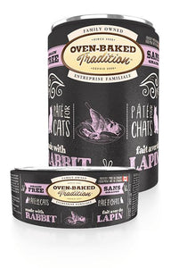 Oven-Baked Tradition Cat Adult Rabbit Pate 12 x 12.5 oz