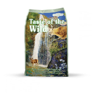 Taste of the Wild Rocky Mountain Feline Formula with Roasted Venison & Smoked Salmon  15 lbs. bag - Naturally Urban Pet Food Shipping