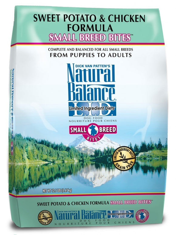 Natural Balance Sweet Potato & Chicken Small Breed Bites™ Dry Formula  12.5 lbs. bag - Naturally Urban Pet Food Shipping