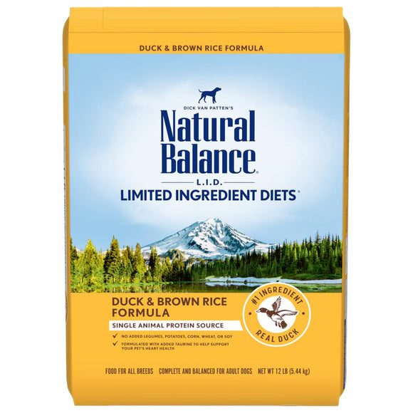 Natural Balance  Limited Ingredient Diets Potato & Duck Dry Dog Formula  24 lbs. bag - Pet Food Online by Naturally Urban