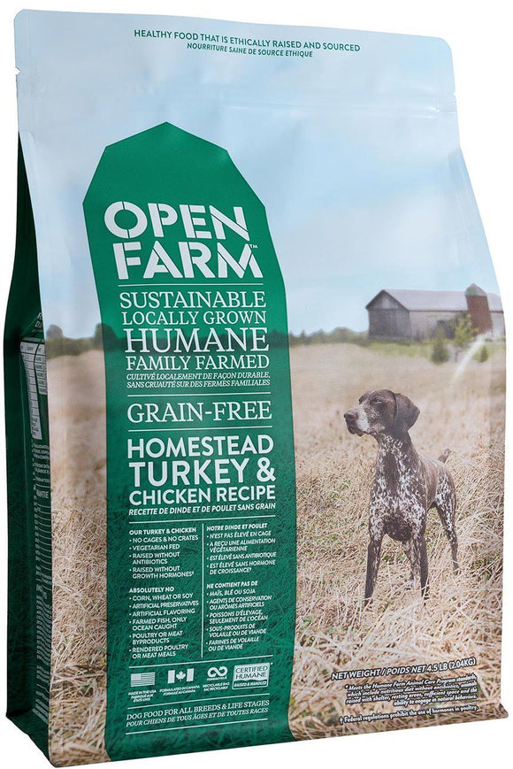Open Farm Homestead Turkey & Chicken Recipe 24 lbs - Naturally Urban Pet Food Shipping