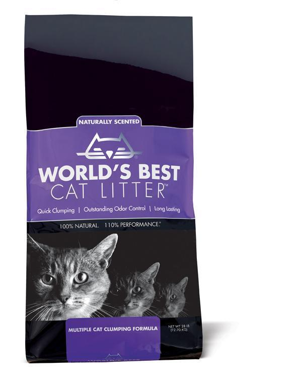 World's Best Cat Litter™ Lavender Scented Multiple Cat Clumping Formula 28 lbs. bag - Pet Food Online by Naturally Urban