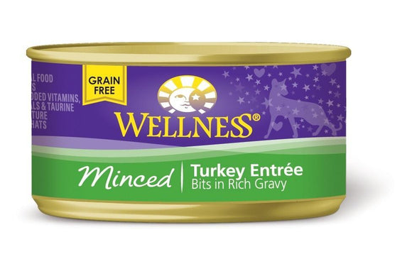 Wellness Minced Turkey Entree 24 x 5.5 oz. cans - Naturally Urban Pet Food Shipping