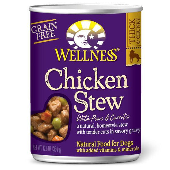 Wellness  Chicken Stew with Peas & Carrots 12 x 13.2 oz. cans - Pet Food Online by Naturally Urban