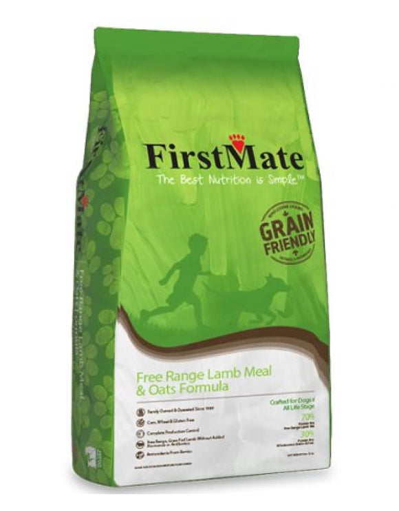 FirstMate's Grain Friendly Free Range Lamb & Oats Formula 25 lbs - Pet Food Online by Naturally Urban