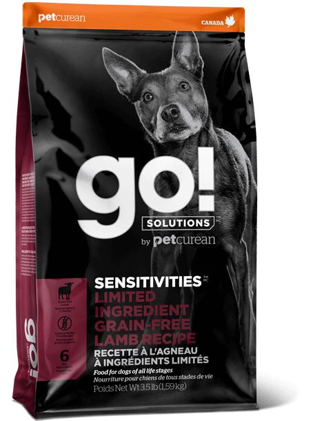GO! Sensitives Limited Ingredient Lamb Recipe  22 lbs. - Naturally Urban Pet Food Shipping