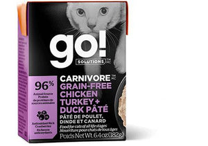 GO! Carnivore Chicken Turkey & Duck 24/6.4OZ - Naturally Urban Pet Food Shipping