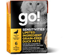 GO! Sensitivities LID Duck Pate 24/6.4OZ - Naturally Urban Pet Food Shipping