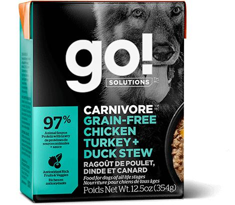 GO! Carnivore Chicken Turkey & Duck 12/12.5OZ - Naturally Urban Pet Food Shipping