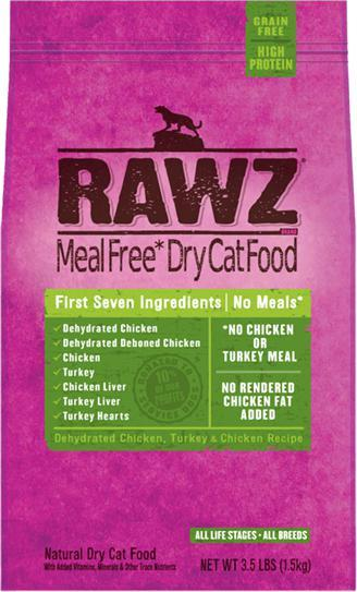 RAWZ Dehydrated Chicken, Turkey Recipe for cats - 3.5 kg. - Naturally Urban Pet Food Shipping