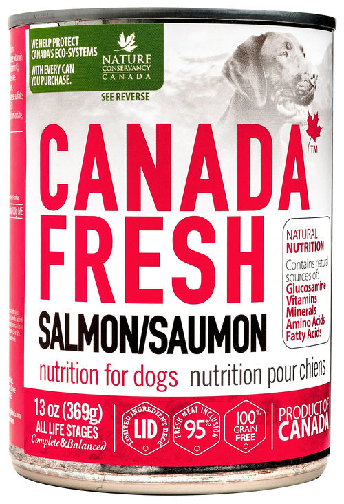 Canada Fresh Nutrition Salmon Formula for Dogs 12 x 13oz cans - Naturally Urban Pet Food Shipping