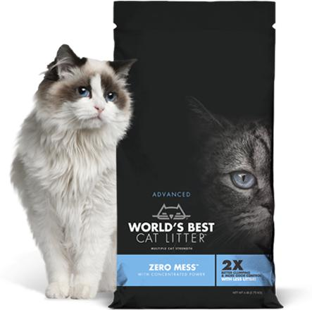 World's Best Cat Litter™ Advanced Zero Mess 24 lbs. - Naturally Urban Pet Food Shipping