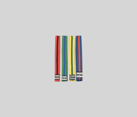 372 - Coloured Belts with Coloured Stripes