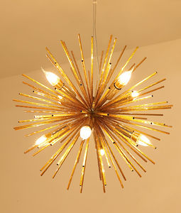 Loft Chandelier Light Pendant Lamp Dandelion Sparkle Sunshine Kitchen Counter Suspension Lighting Fixture Hanging Lamp