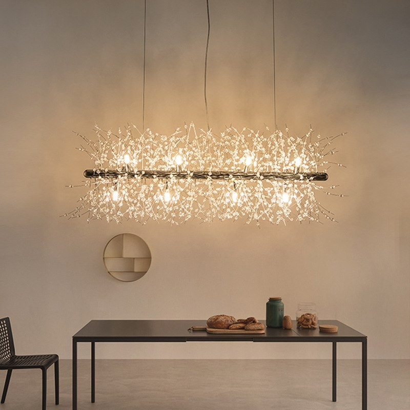 Modern Flower Branch Gold Pendant Lights Hang Lamp LED Pendant Lamp Kitchen Light Fixtures Suspension Luminaire Lighting