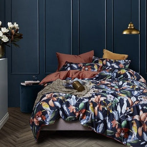 Funda Nordica King Size.Leaf Birds Print 3d Bedding Set Luxury Egyptian Cotton Queen King Size Bedding Sets Bed Sheet Set Duvet Cover Funda Nordica Cama