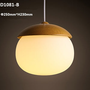 Modern Glass Globe Pendant Lights Nuts Lampshade E27 Children Bedroom Pendant Lamps Hanging Lamp Light Fixtures Home Lighting