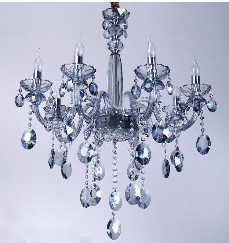 Lighting Luxury Crystal Chandelier Ocean Blue Crystal Chandelier Lustre Light Lighting
