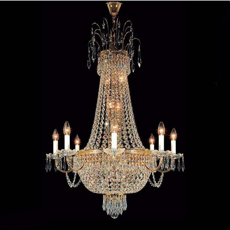 Lighting French Empire Gold Crystal Chandelier Lustre Chrome Chandeliers Modern Chandeliers Light Lighting