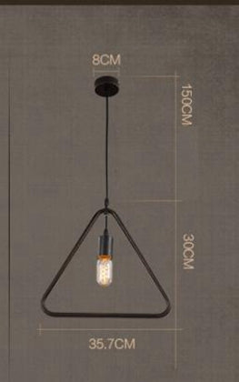 Simple Industrial Metal Structure Lamp Pendant Light For Dining Study Kitchen Island Living Room Suspension Lamp