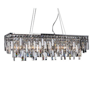 Lighting Modern Crystal Pendant Light Chrome Rectangle Pendant Light Guaranteed 100%