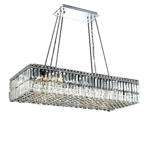 Modern Crystal Pendant Light Lighting Chrome Crystal Pendant Light Fixture Rectangle Light Guaranteed 100%