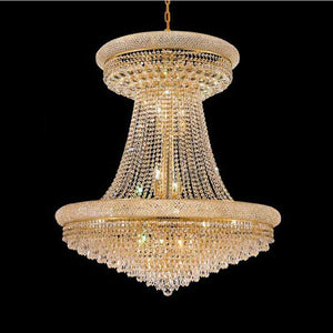 Lighting French Empire Gold Large Crystal Chandelier Lustre Chrome Chandeliers Lighting Modern Chandeliers Light Lighting