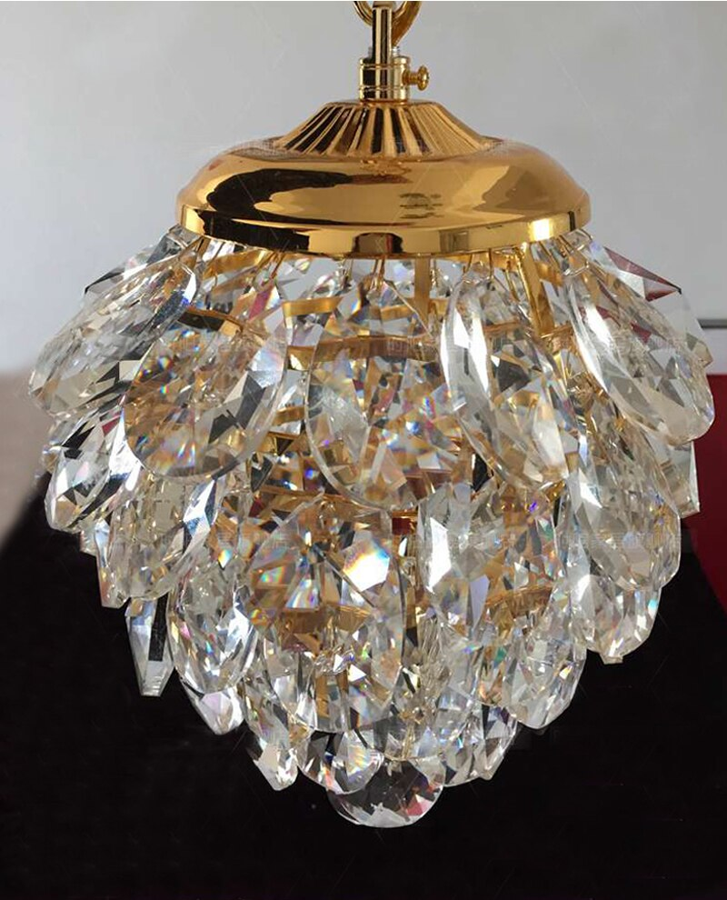 Modern Crystal Pendant Light Gold /Chrome Pendant Light Pineapple shape Used in WalkWay Club Guaranteed 100%